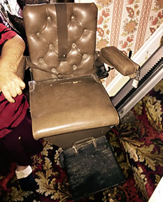 antique stairlift side view