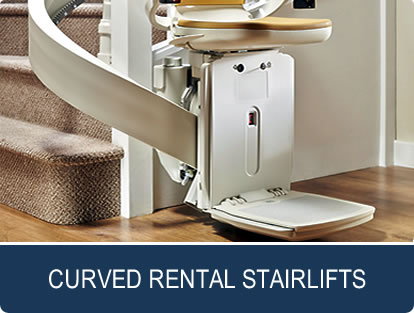 curved rental stairlifts