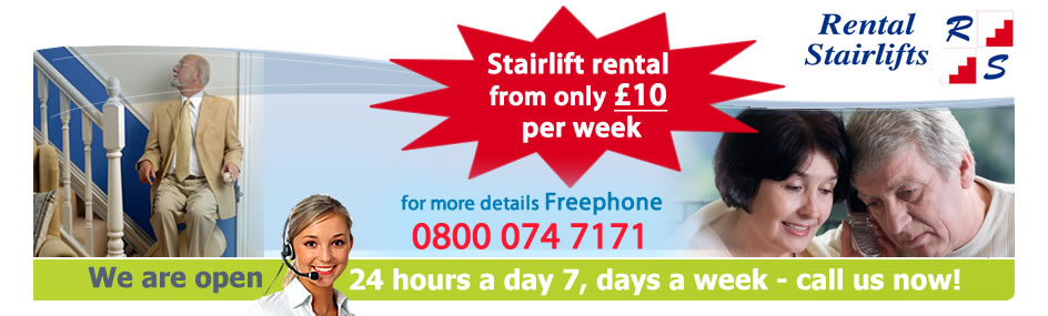 rental stairlifts banner
