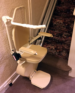 sit stand stairlift side view